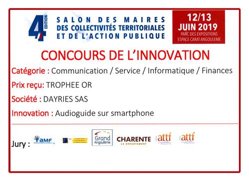 Diplome du Salon des Maires et Collectivités 2019